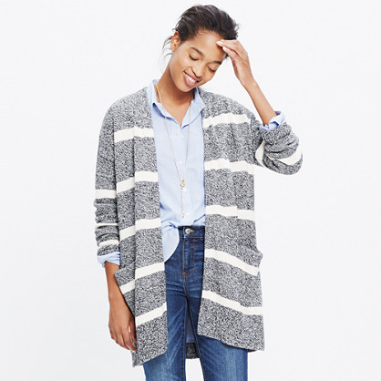 Striped Open Cardigan Sweater : cardigans & sweater-jackets | Madewell