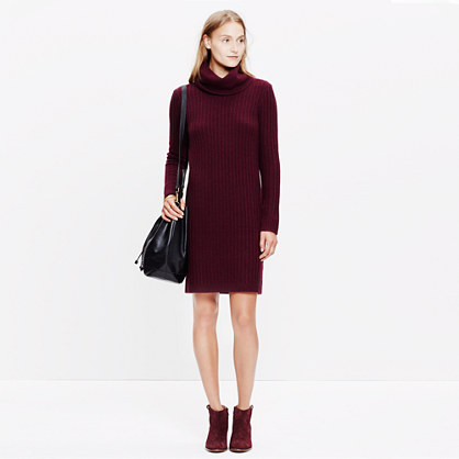 Relaxed Turtleneck Sweater-Dress
