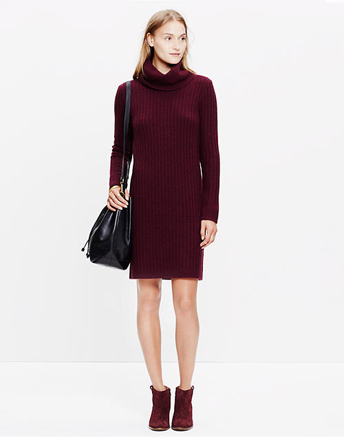 18a7eefa4cc89 Relaxed Turtleneck Sweater-Dress in null image 1