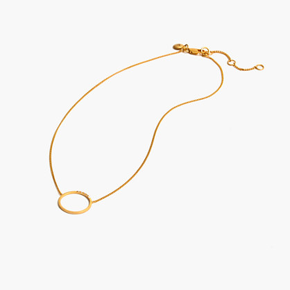Luster Circle Necklace