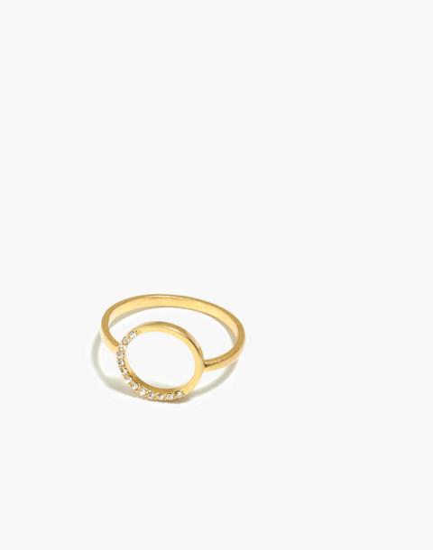 Luster Circle Ring in vintage gold image 1