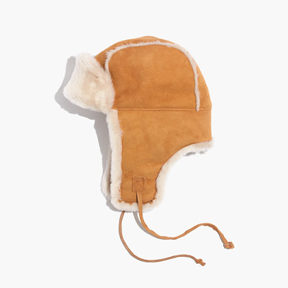 Madewell & Owen Barry™ Shearling Trapper Hat