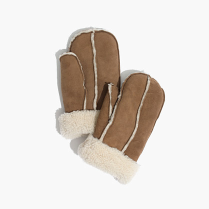 Madewell & Owen Barry™ Curly Merino Shearling Mittens