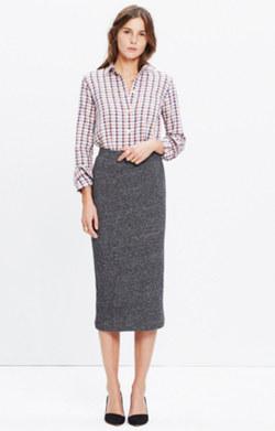 Marled Midi Skirt
