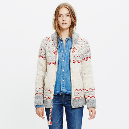 Chamula™ Fair Isle Cardigan Sweater : cardigans & sweater-jackets ...