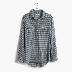 Flannel Ex-Boyfriend Shirt in Gingham Check
