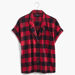 Flannel Bedtime Top in Buffalo Check