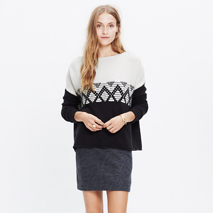 Contrast Fair Isle Pullover Sweater : pullovers | Madewell
