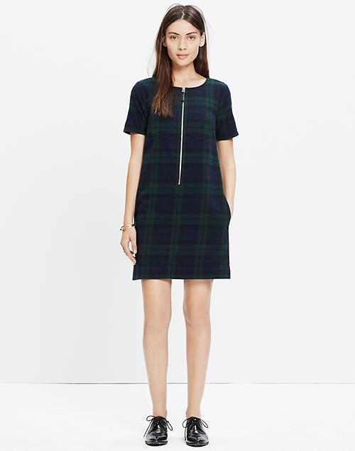2a6730865b0 Dark Plaid Zip Dress