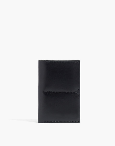 The Leather Passport Case in true black image 1