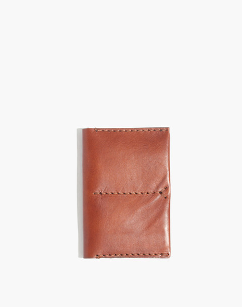 The Leather Passport Case in english saddle image 1