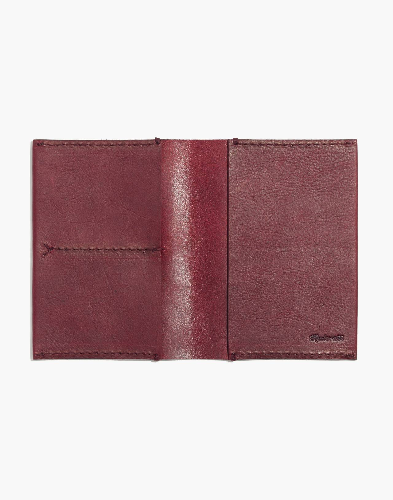 The Leather Passport Case in dark cabernet image 2