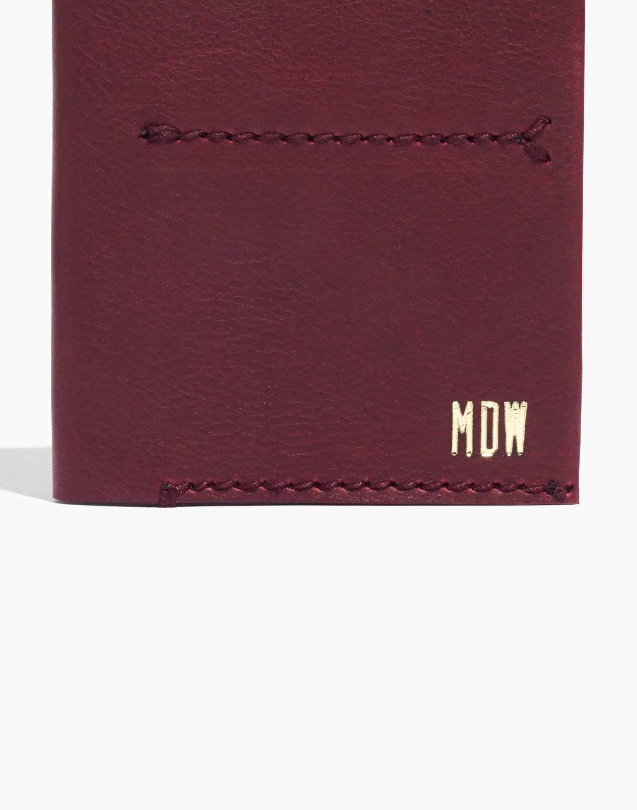 The Leather Passport Case in dark cabernet image 3