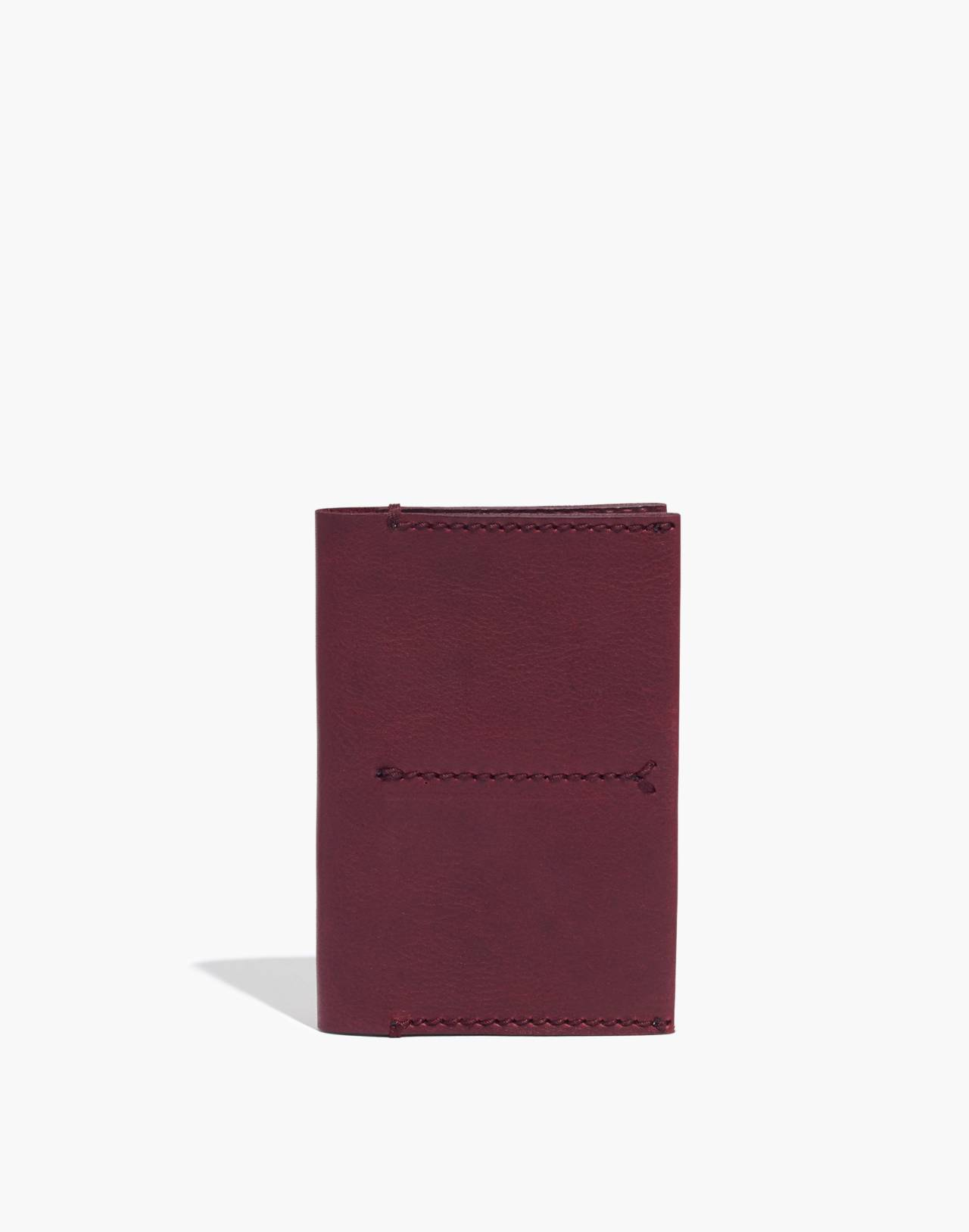 The Leather Passport Case in dark cabernet image 1