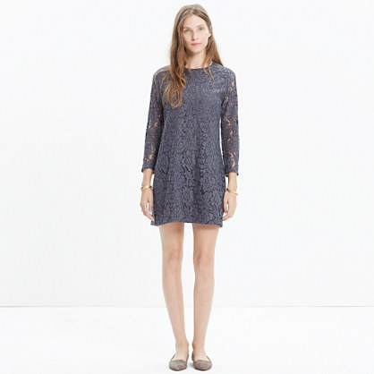 Lace Long-Sleeve Shift Dress : AllProducts | Madewell