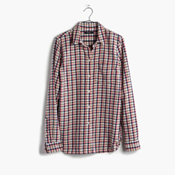 Flannel Slim Boyshirt in Palma Plaid