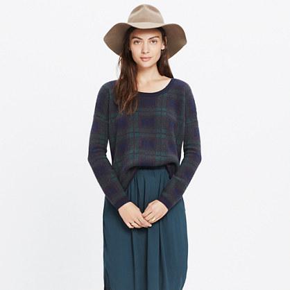 Dark Plaid Pullover Sweater