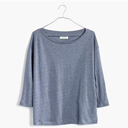 Modern Linen Three-Quarter Sleeve Tee