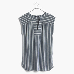 Belize Cover-Up Tunic Dress in Stripe