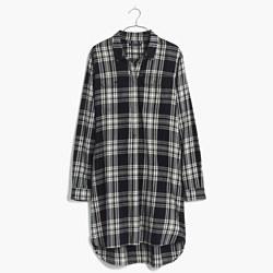 Flannel Daywalk Shirtdress in Glendale Plaid