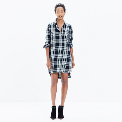 Flannel Daywalk Shirtdress in Glendale Plaid