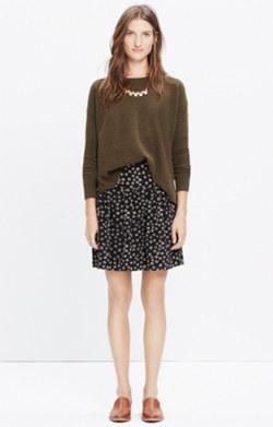 Skyline Skirt in Stencil Blossom