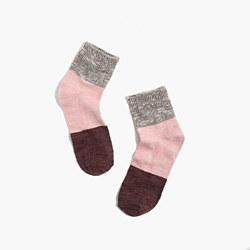 Marled Colorblock Ankle Socks