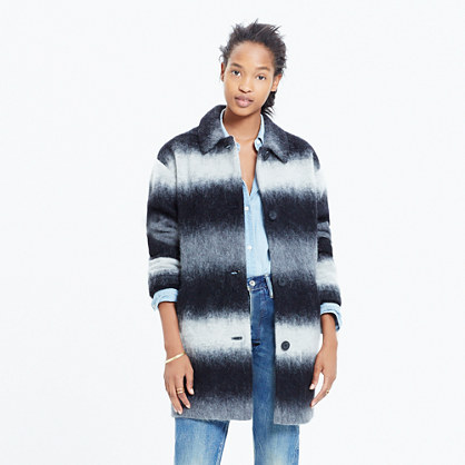 Textured Cocoon Coat