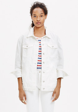 The Oversized Jean Jacket in White