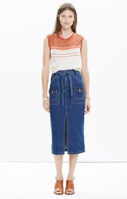 Denim Timeline Skirt