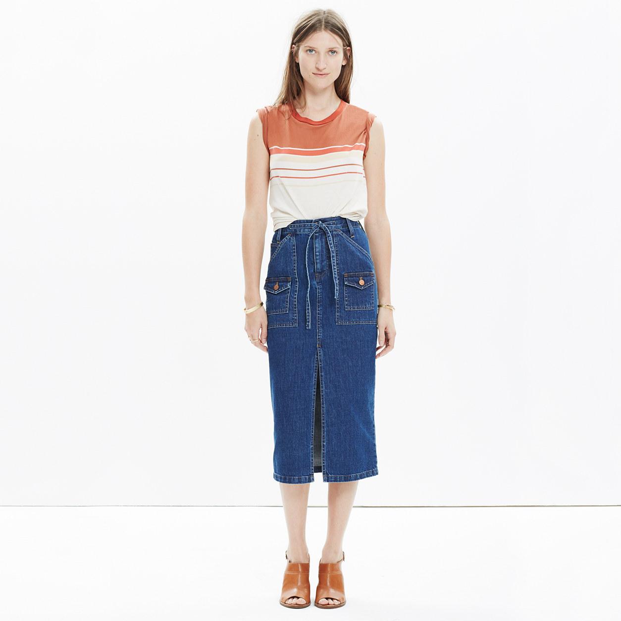 Denim Timeline Skirt : midi & maxi | Madewell