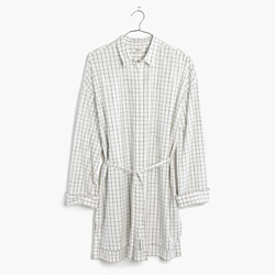 Belted Tunic Shirt in Windowpane