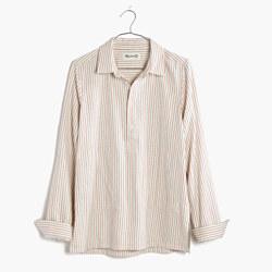 Striped Pocket Popover Shirt