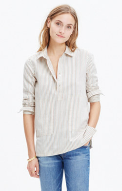 Striped Pocket Popover Shirt