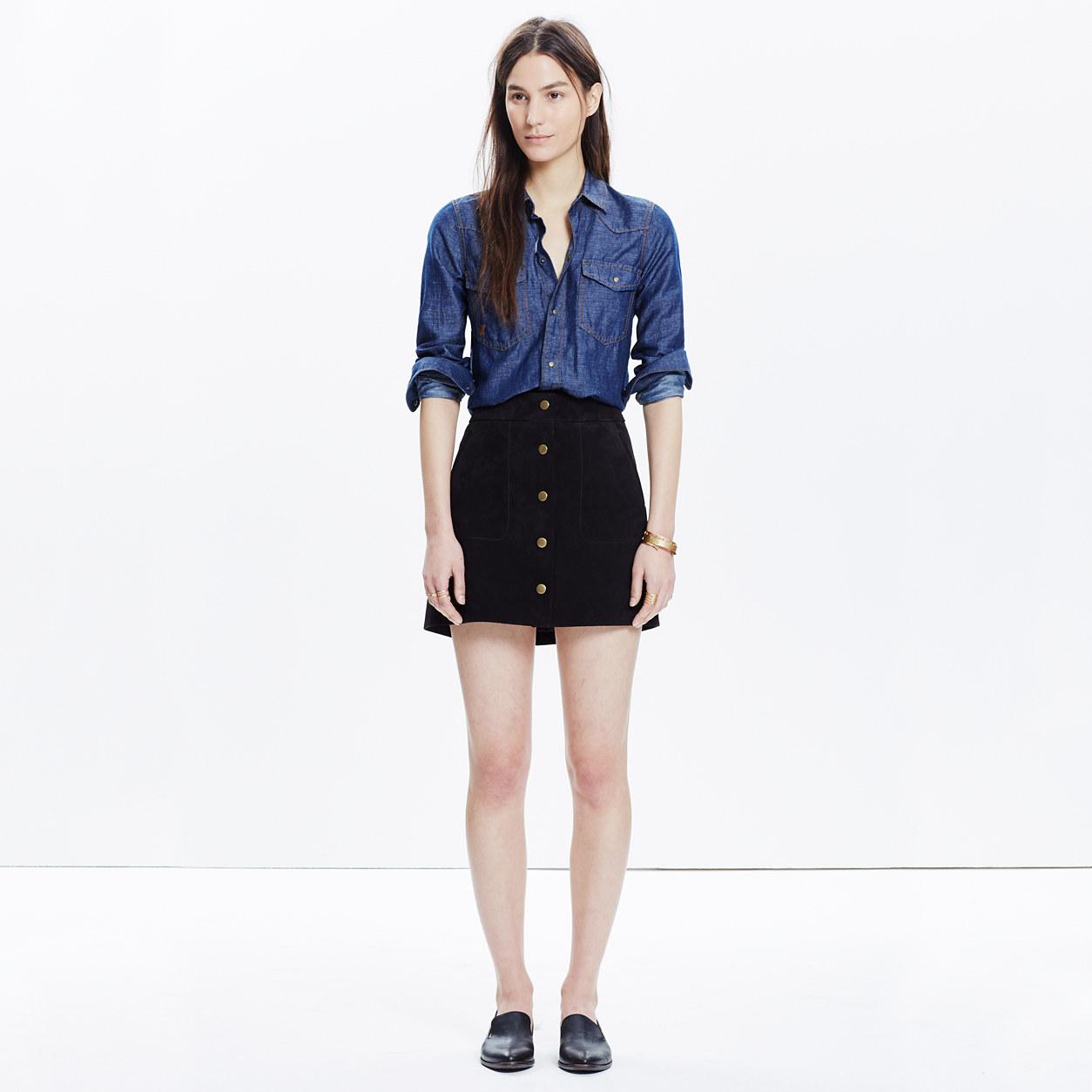 Double Windowpane Mini Skirt : mini | Madewell