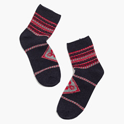 Fair Isle Ankle Socks