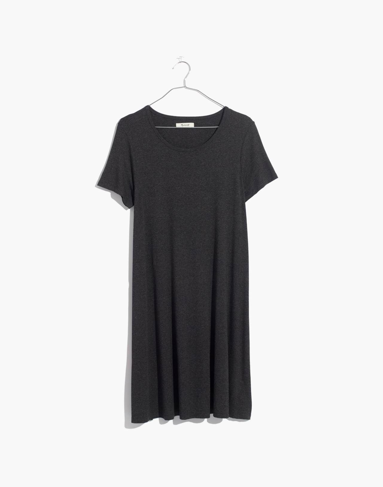 Swingy Tee Dress in hthr charcoal image 4