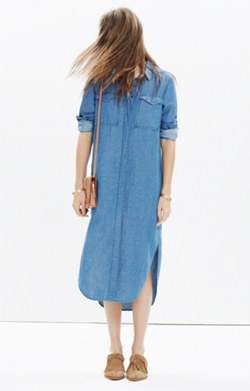 Denim Midi Shirtdress