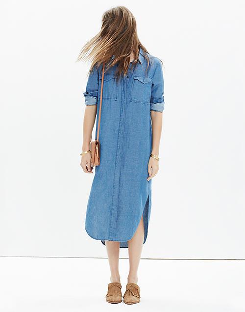 Denim Midi Shirtdress