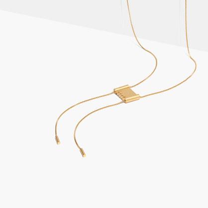 Angle-Etch Bolo Necklace