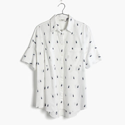 Courier Shirt in Pelican Jacquard