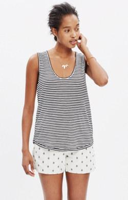Anthem Scoop Tank Top in Stripe