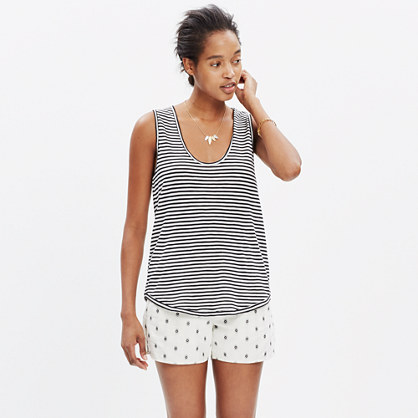 Anthem Scoop Tank Top in Stripe