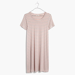 Swingy Tee Dress in Sacramento Stripe