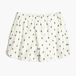 Pull-On Shorts in Diamond Dot