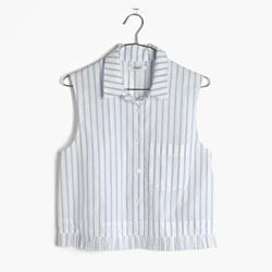 Pagoda Crop Shirt in Stripe