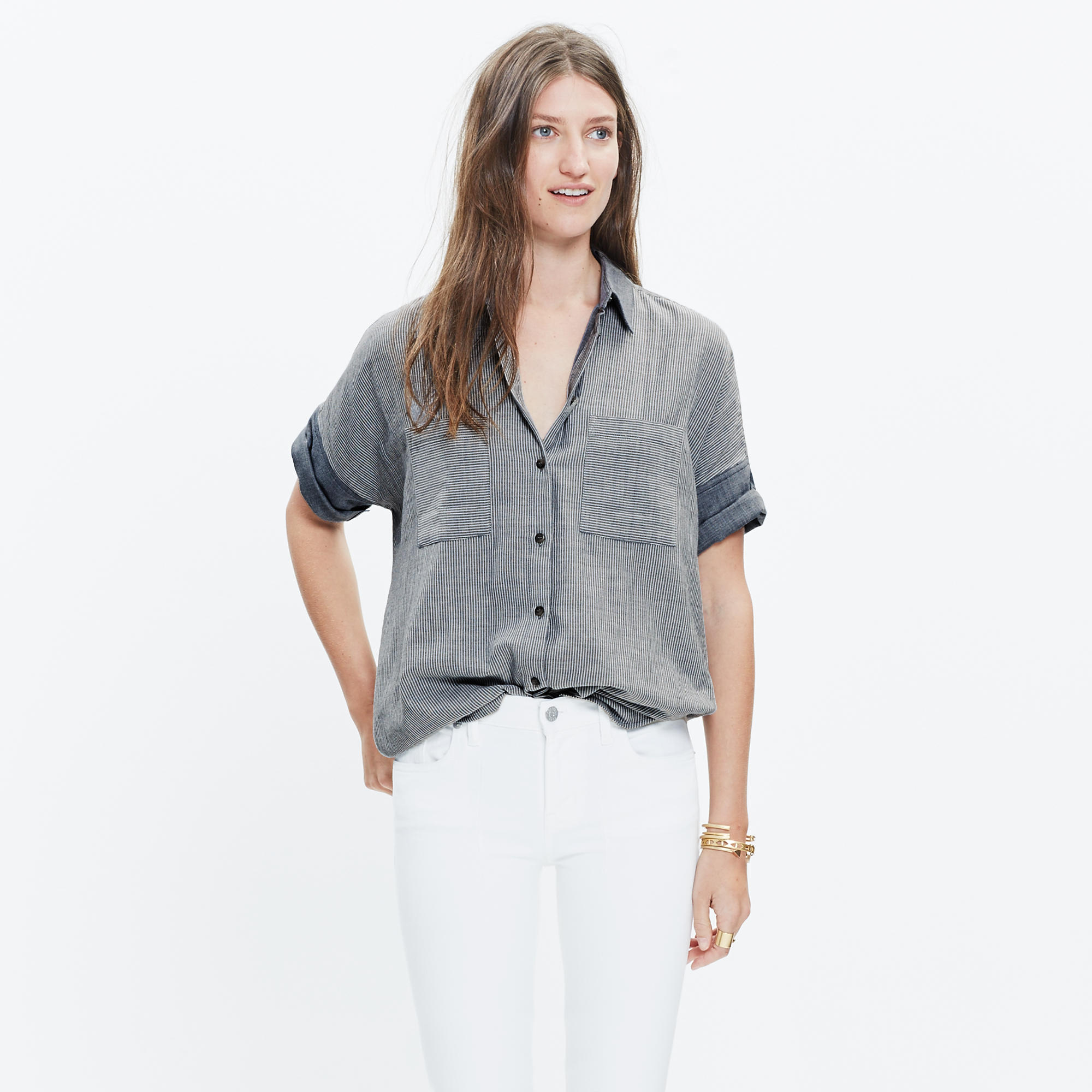 Courier Shirt in Lilydale Stripe ...