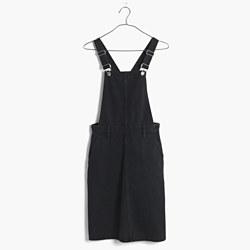 Denim Jumper Dress in Washed Black