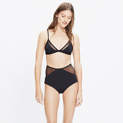 Mara Hoffman® Mesh Combo Triangle Bralette Bikini Top