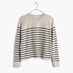 Cutoff Sweatshirt in Stripe